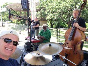 Church on Monday at Austin Art City Fest (Me, Dr. James Polk, Daniel Durham.)